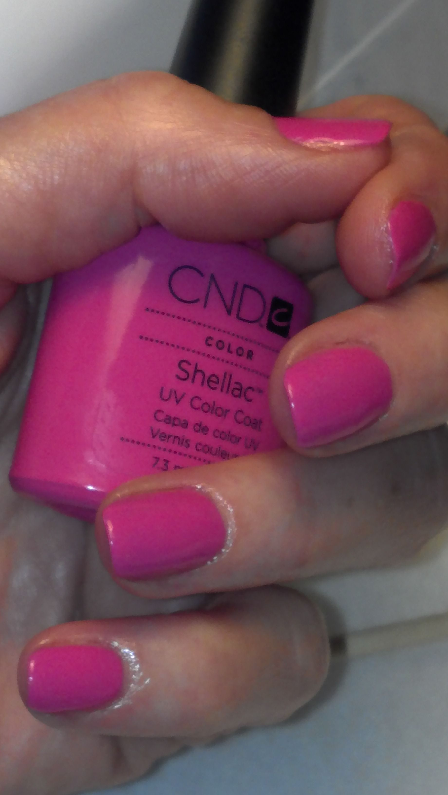 fun with hot pop pink. shellac manicure for $25 | my work.just
