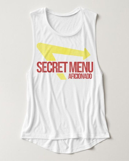 Secret Menu Aficionado Flowy Muscle Tank - White