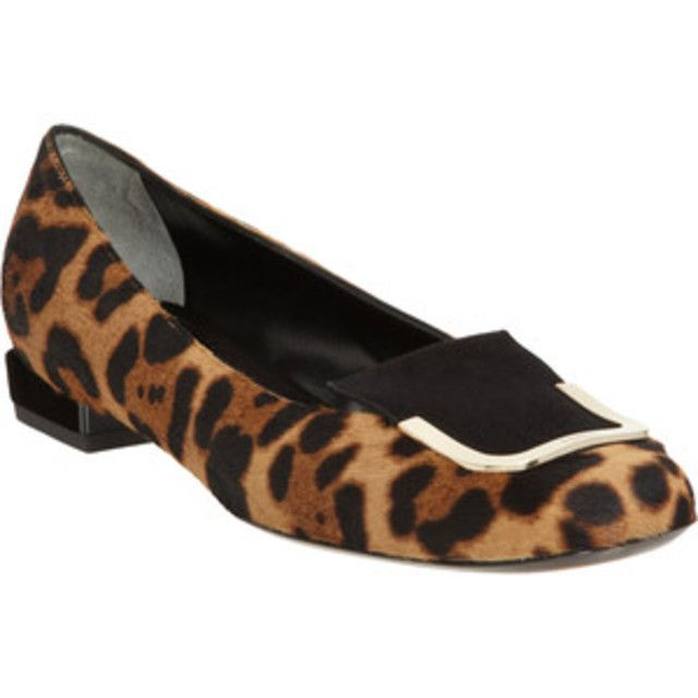 3df398d33b0e8 FENDI LEOPARD PONY HAIR FLATS - Our price $59.99 - Retail price $379 - Sale  benefits STARelief