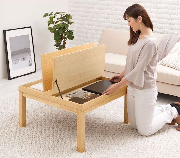 Japan S Heated Tables With Built In Blankets Now Also Have Storage
