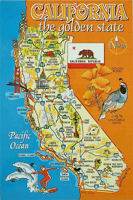 California map from Maddeleine5, US | We love our state ...