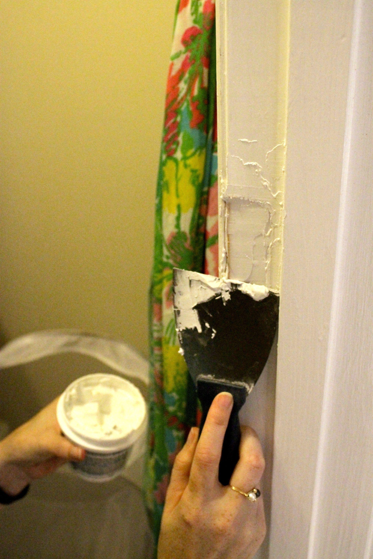 How to repair a door jamb after removing the door door