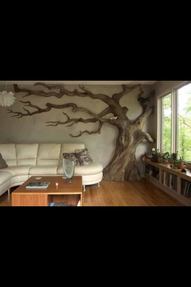 I actually did decorate once with a tree stump.  It was always a great conversation piece.  This is stunning!