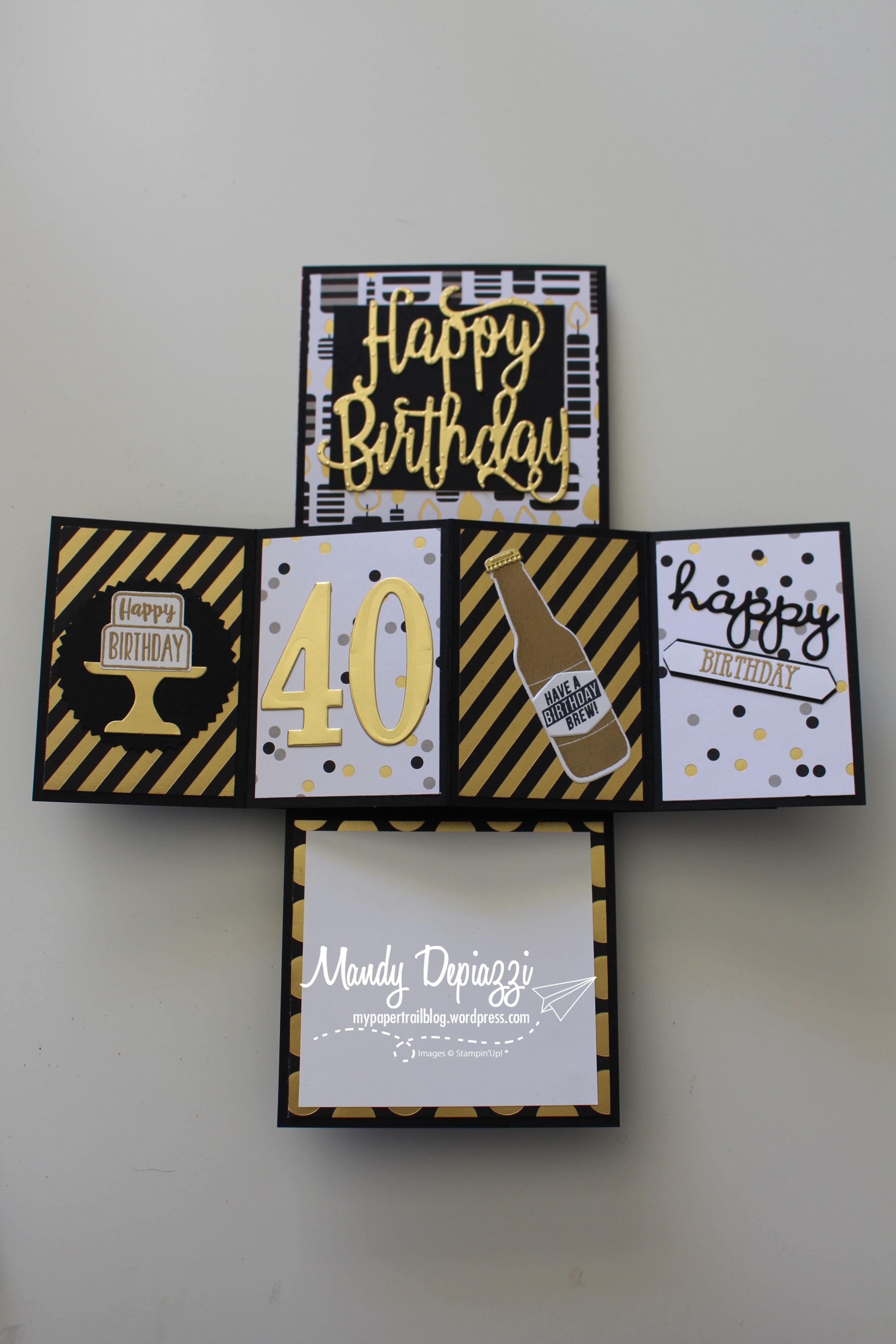 Pop And Twist Card Birthday Card Pop Up 40th Birthday Cards 50th Birthday Cards