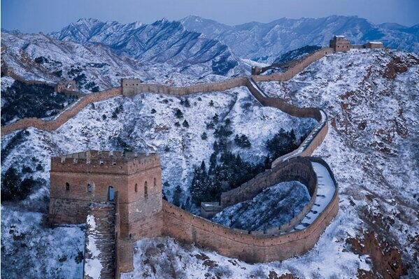 Twitter / Earth_Pics: The Great Wall of China in ...