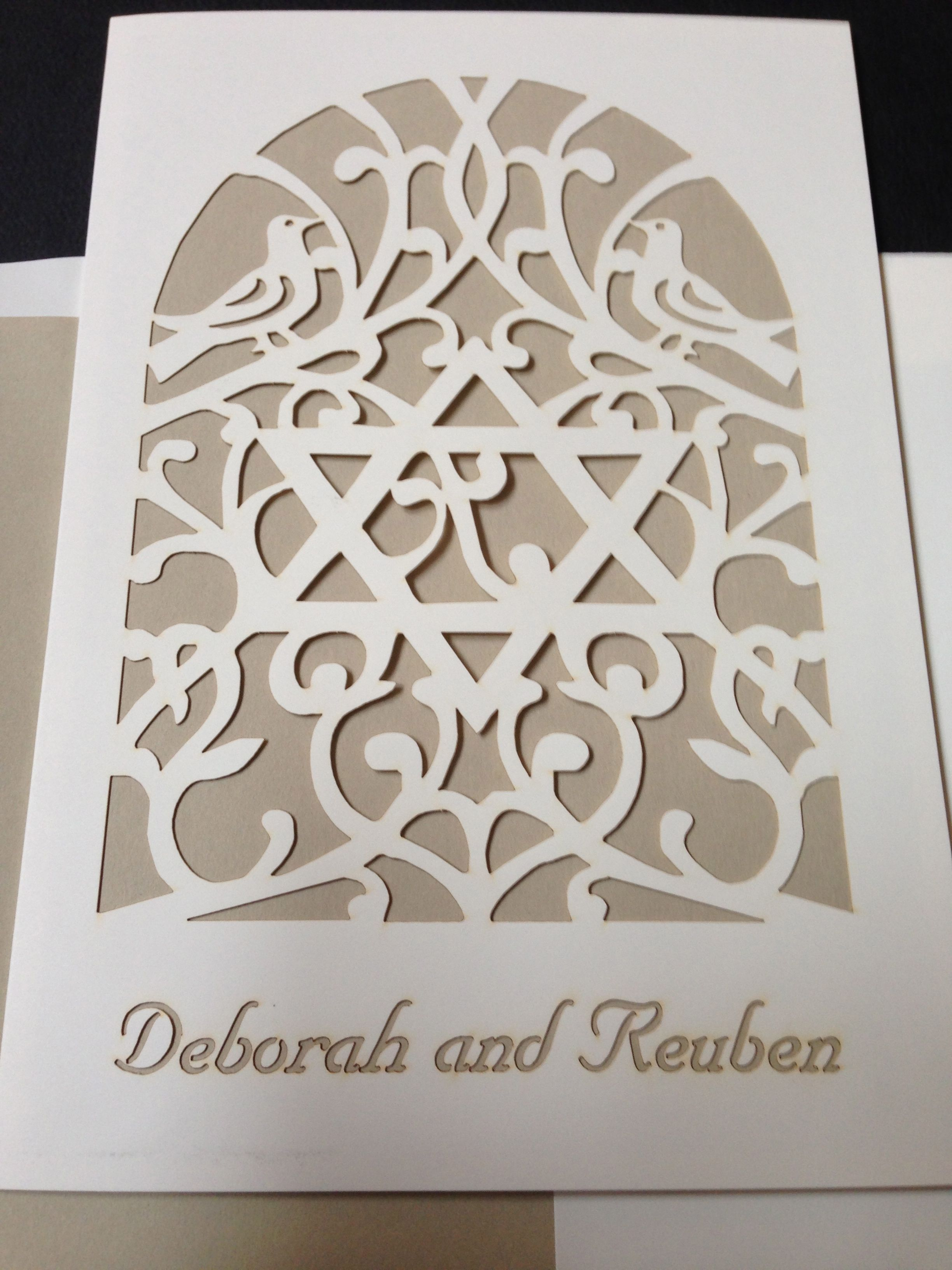 Mosaica Uw193 This Gorgeous Papercut Design Invitation Is Perfect