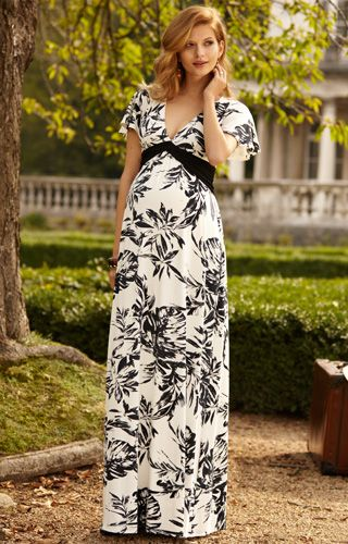 431bc6692e668 Lizzy Maternity Maxi Dress Monochrome Forest - Maternity Wedding Dresses, Evening  Wear and Party Clothes