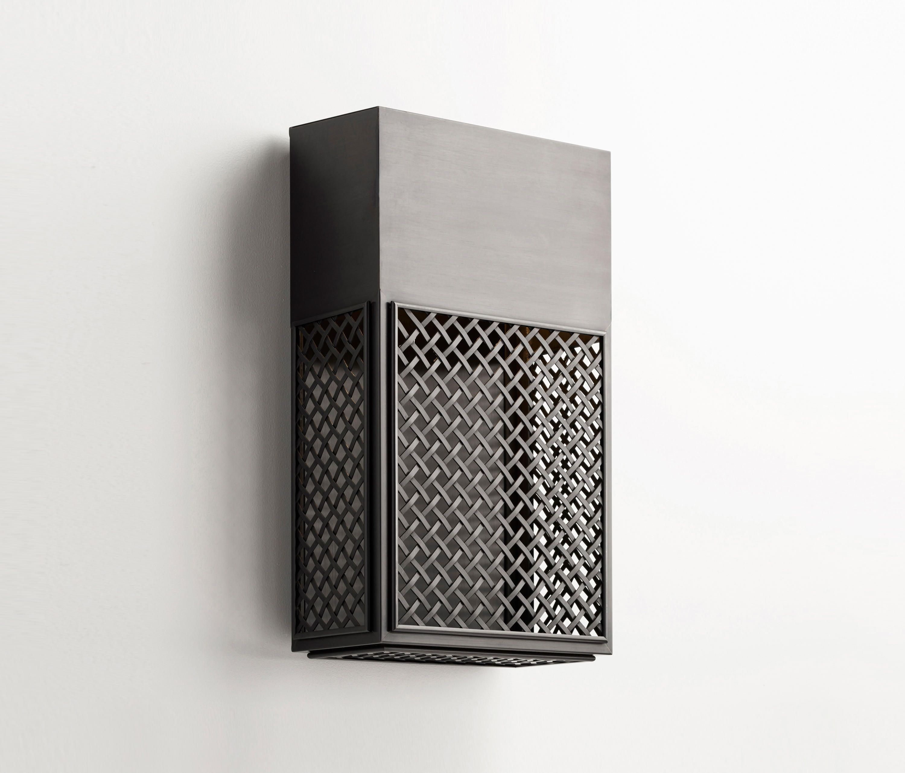Indirect Wall Lighting wall light with mesh in dark bronze and indirect lighting. the