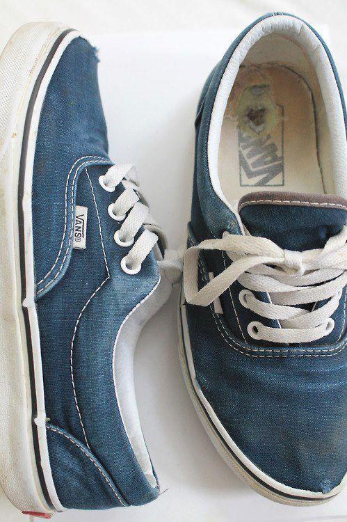 vans schoenen spijkerstof