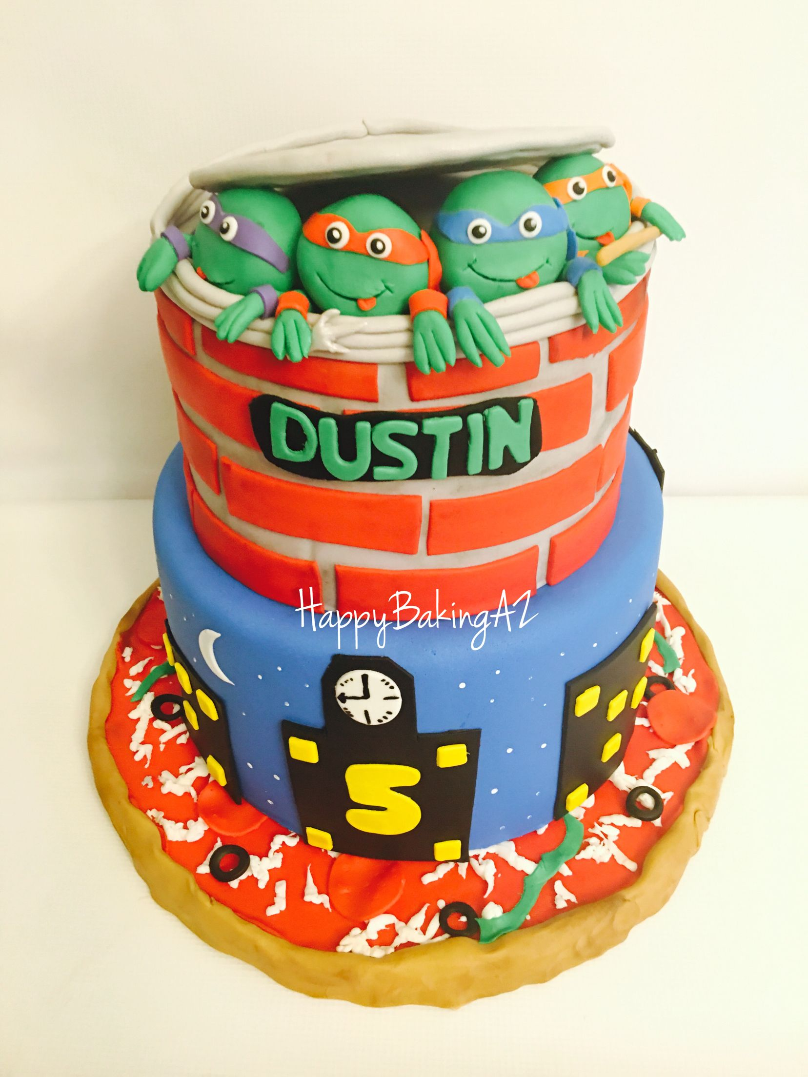 Teenage Mutant Ninja Turtles All Edible Birthday Cakes