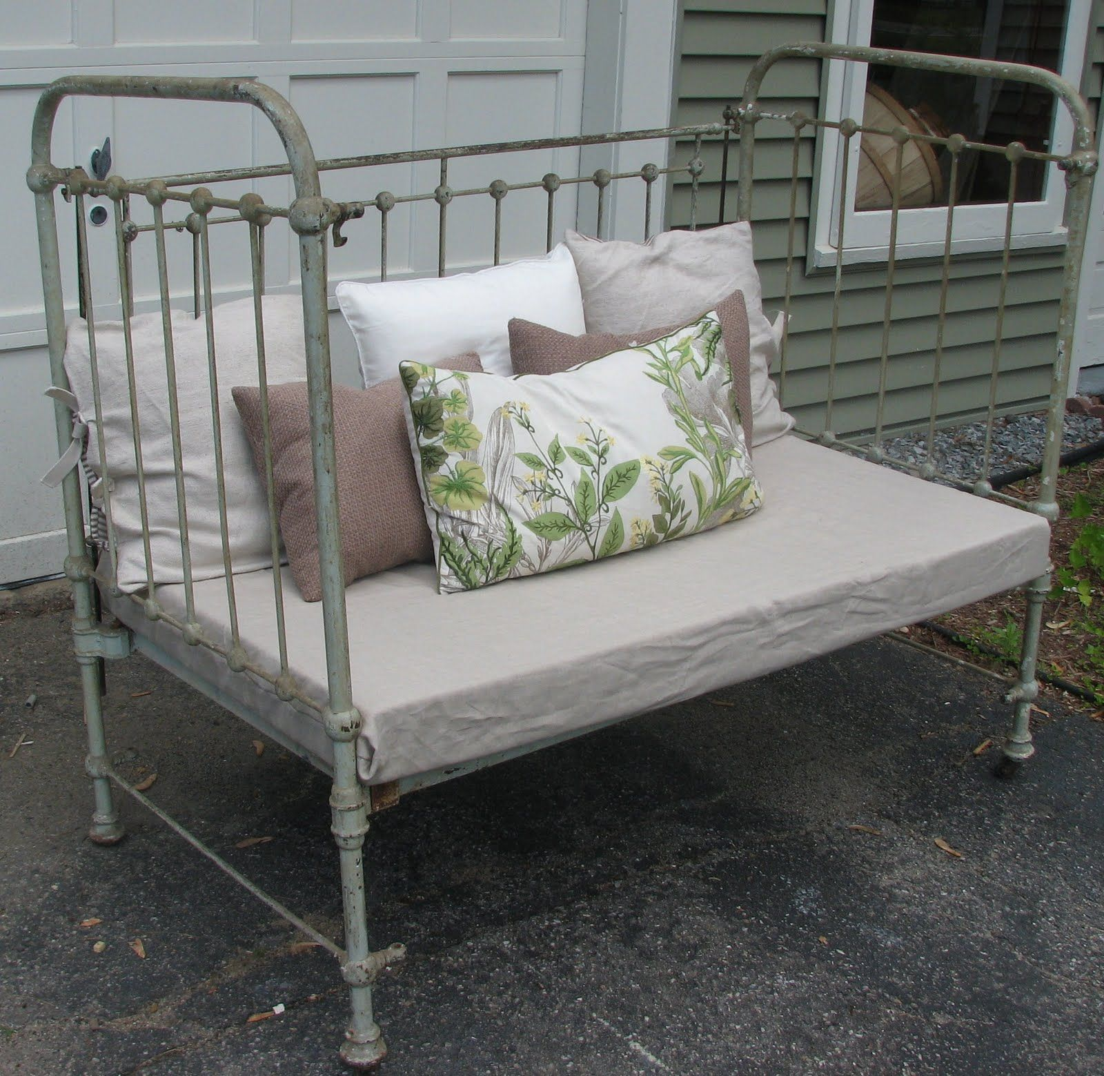 To Convert Iron Crib Into Heirloom Daybed I Would Add