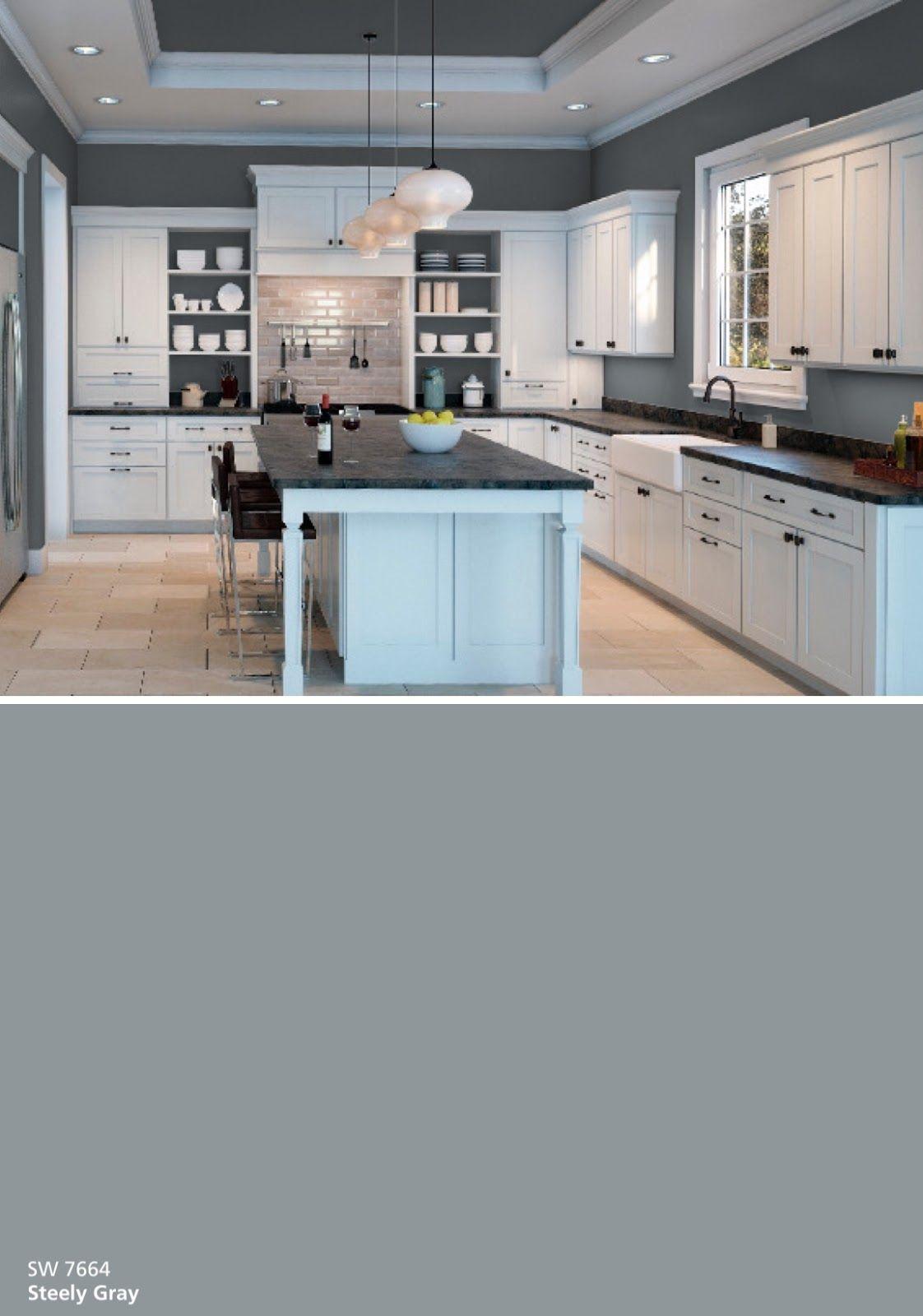 Color Inspiration + Color Snap | Kitchen cabinet colors ...