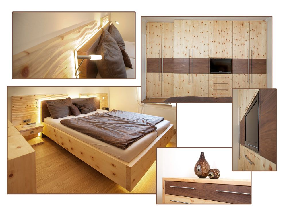 Zirbenschlafzimmer, Schlafzimmerschrank nach Maß - Tischlerei - zirbenholz schlafzimmer modern