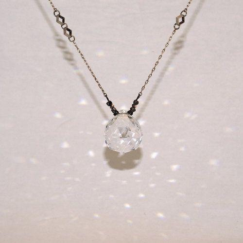 Prism pendant necklace bead necklace soft ribbon pinterest diy prism pendant necklace aloadofball Images