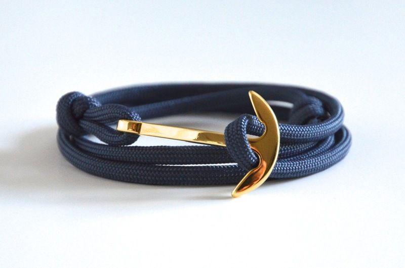 ANKER ARMBAND NAVY GOLD von BraceletBlvd auf DaWanda.com