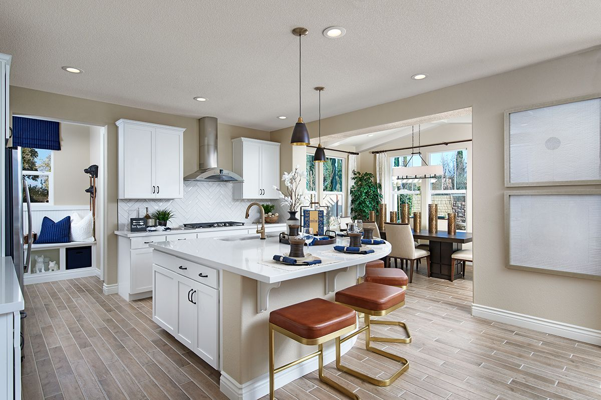 Sophisticated barstools Andrea model home kitchen