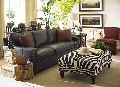 interesting african safari themed living room   Safari, Living Rooms   Havertys Furniture   African themed ...