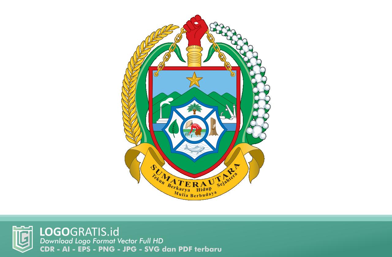 Logo Provinsi Sumatera Utara Desain Grafis Grafis Peta