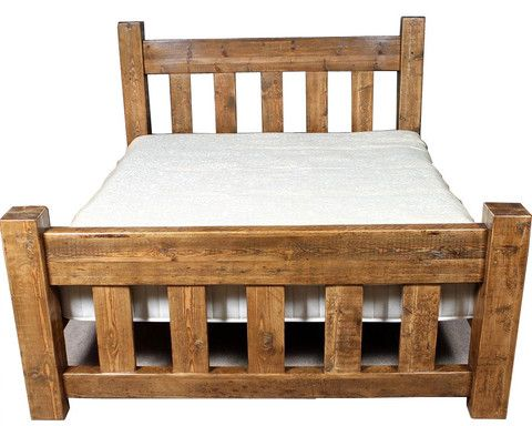 solid wood bed handmade in the UK by reclaimed timber - for Tom?