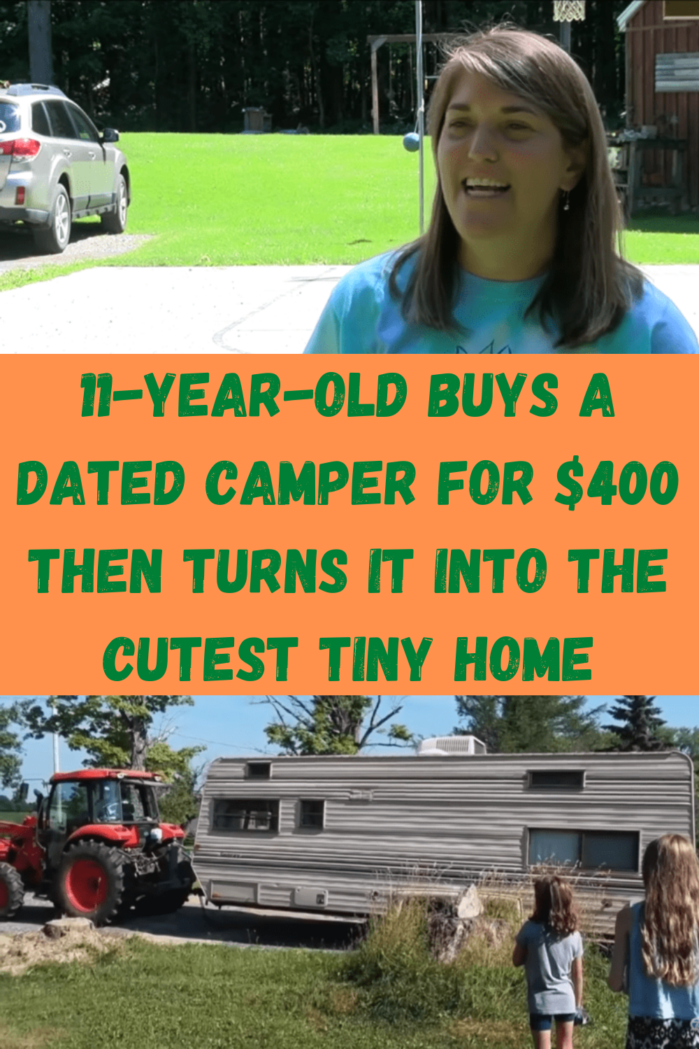 11 Year Old Buys A Dated Camper For $400 Then Turns It Into The Cutest Tiny Home