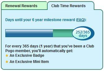 screenshot of club time rewards tracker pogo games pinterest