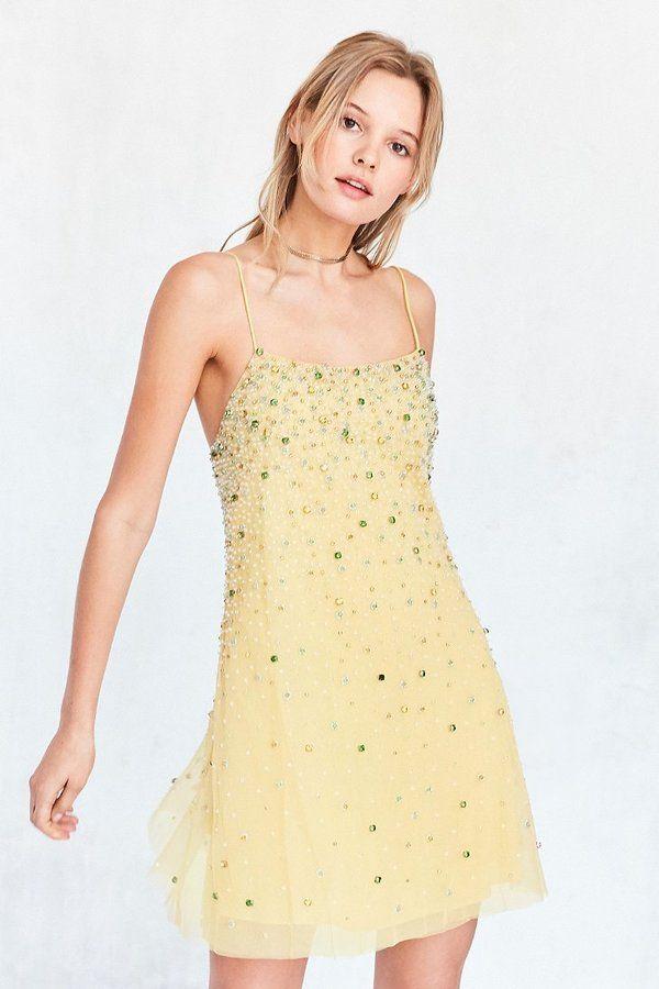 b2d440591d Kimchi Blue Amber Jewel Embellished Mini Dress