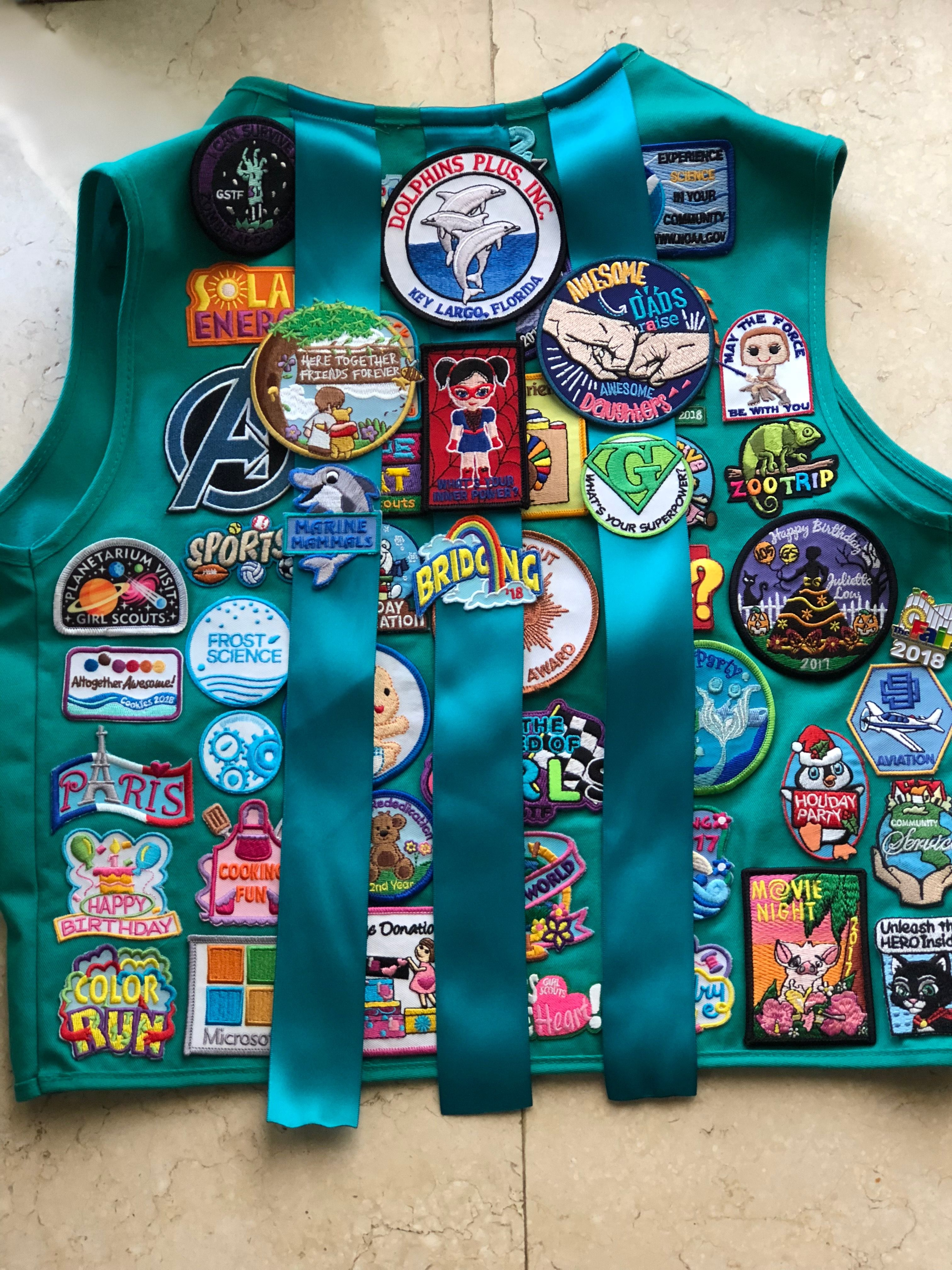 Your Choice Free Shipping Girl Scout USA Uniform Vest Patches Preowned