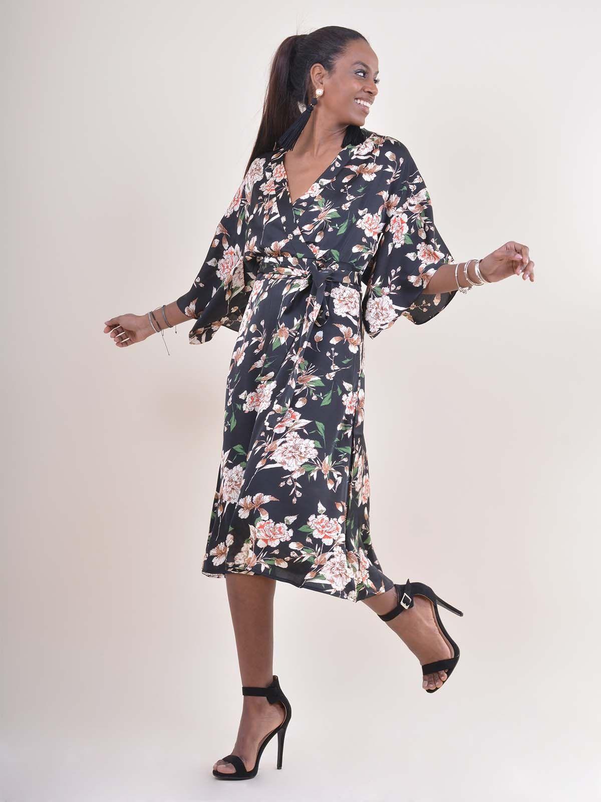 F81202 Φόρεμα floral μακρύ - Decoro - Γυναικεία ρούχα fbd2673cd99