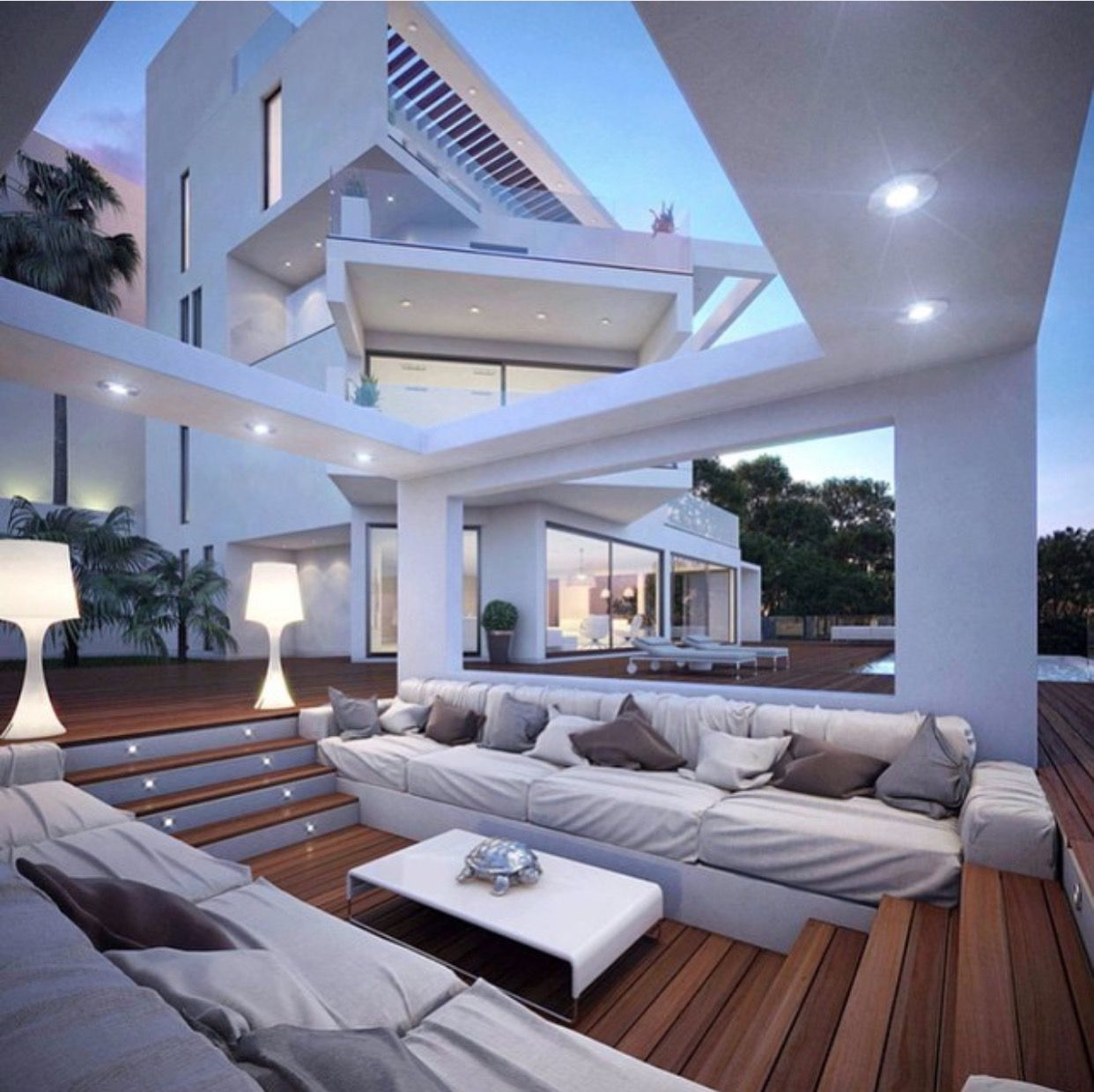 I Love This Sunken Outdoor Lounge Area Visualize This