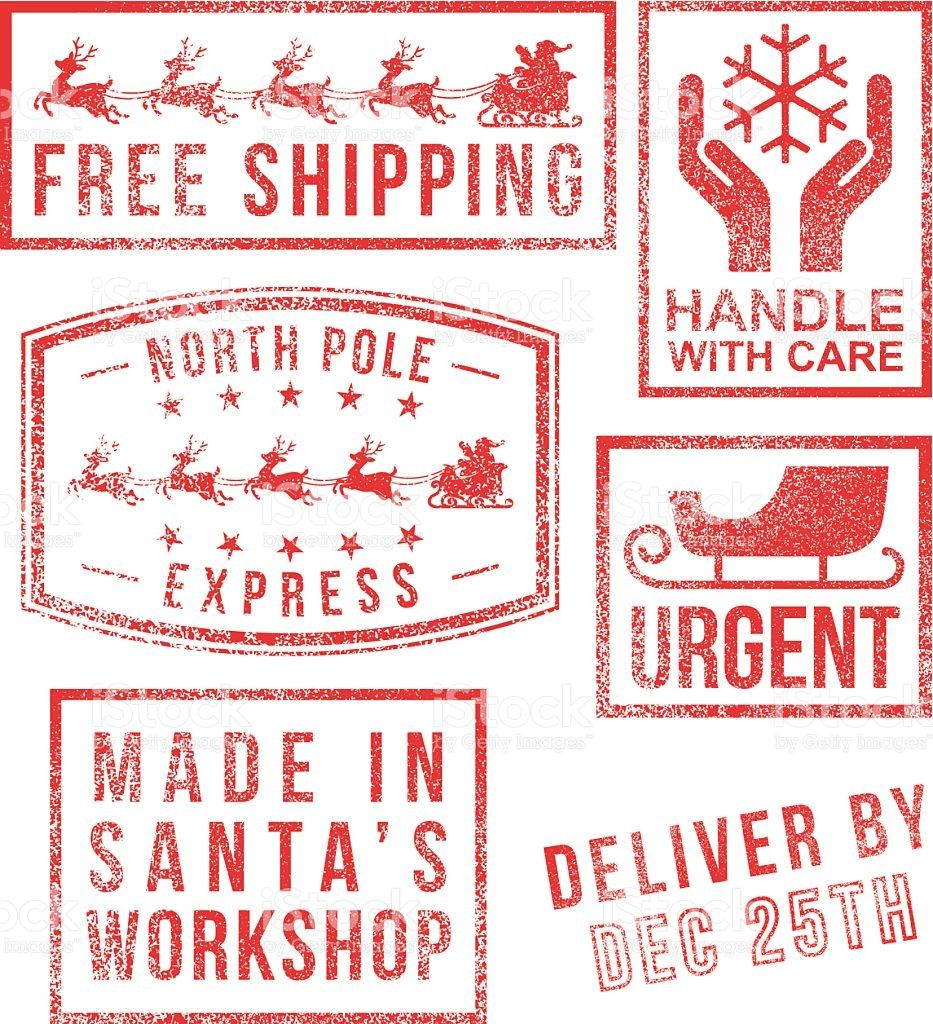 North Pole Santa S Christmas Rubber Stamps North Pole