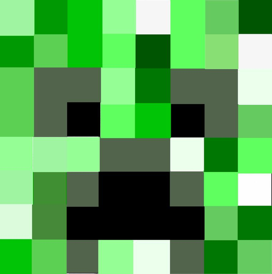 Creeper Face Icon by mistahdisgustingo | sewing | Face icon