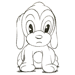 how to draw a cartoon puppy dog with easy steps - Simple Cartoon Drawings For Kids
