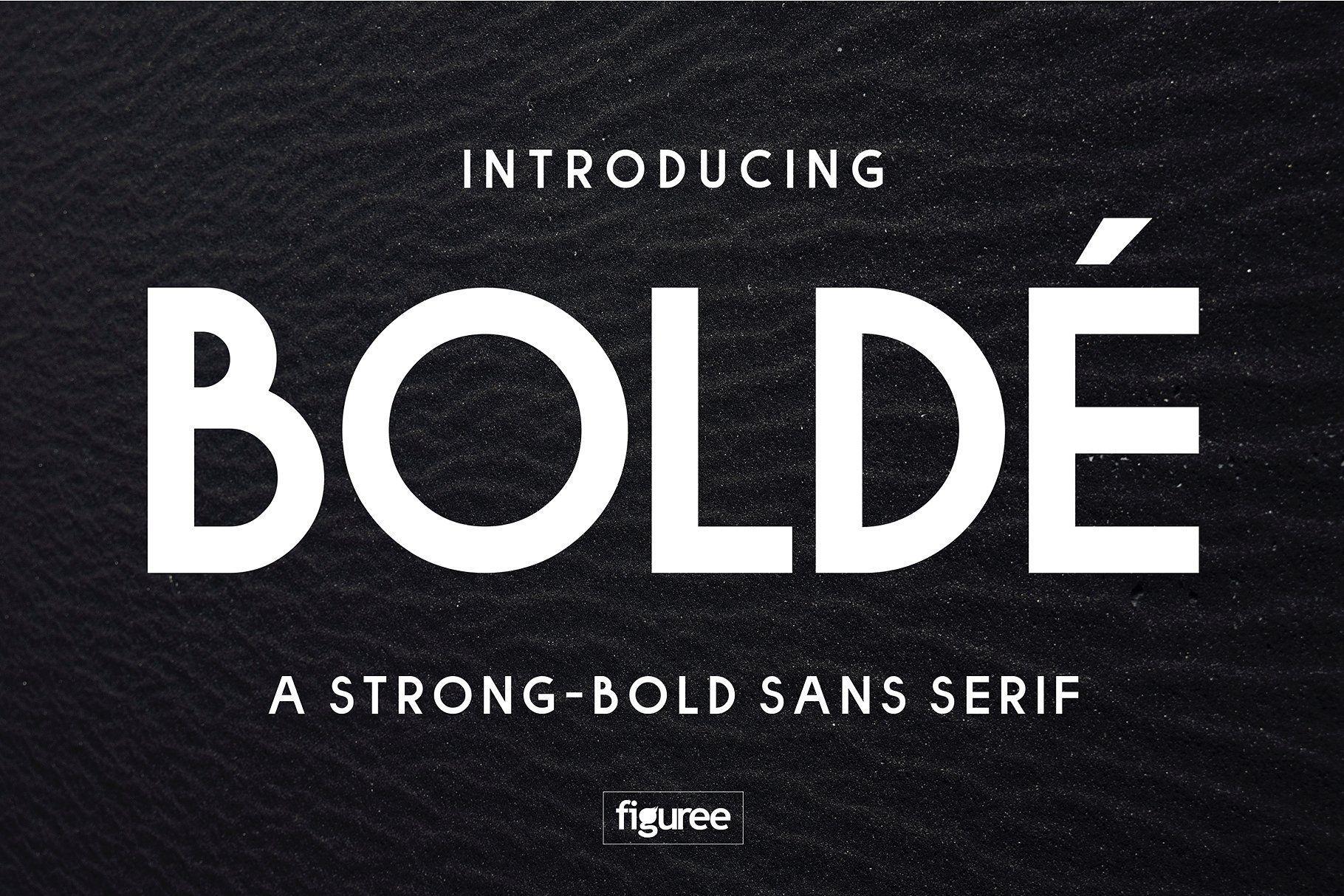 Bolde Sans serif, Serif, Sans serif fonts