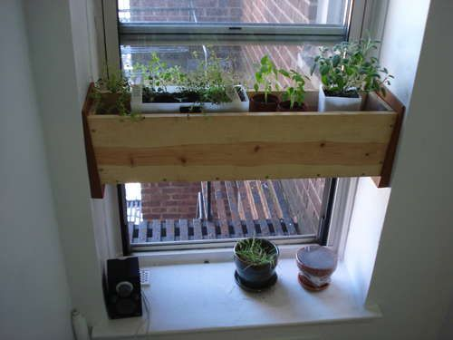 Herb Planter Box For The Kitchen Easy Install Indoor Window Planter Window Planters Herb Planter Box