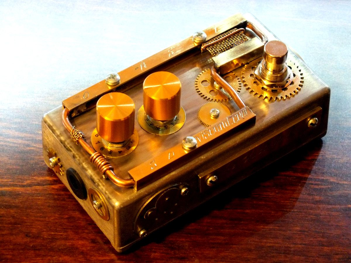 the steampunk guitar effects of svisound germanium auto wah custom 1 of 4 bils stomp boxes. Black Bedroom Furniture Sets. Home Design Ideas