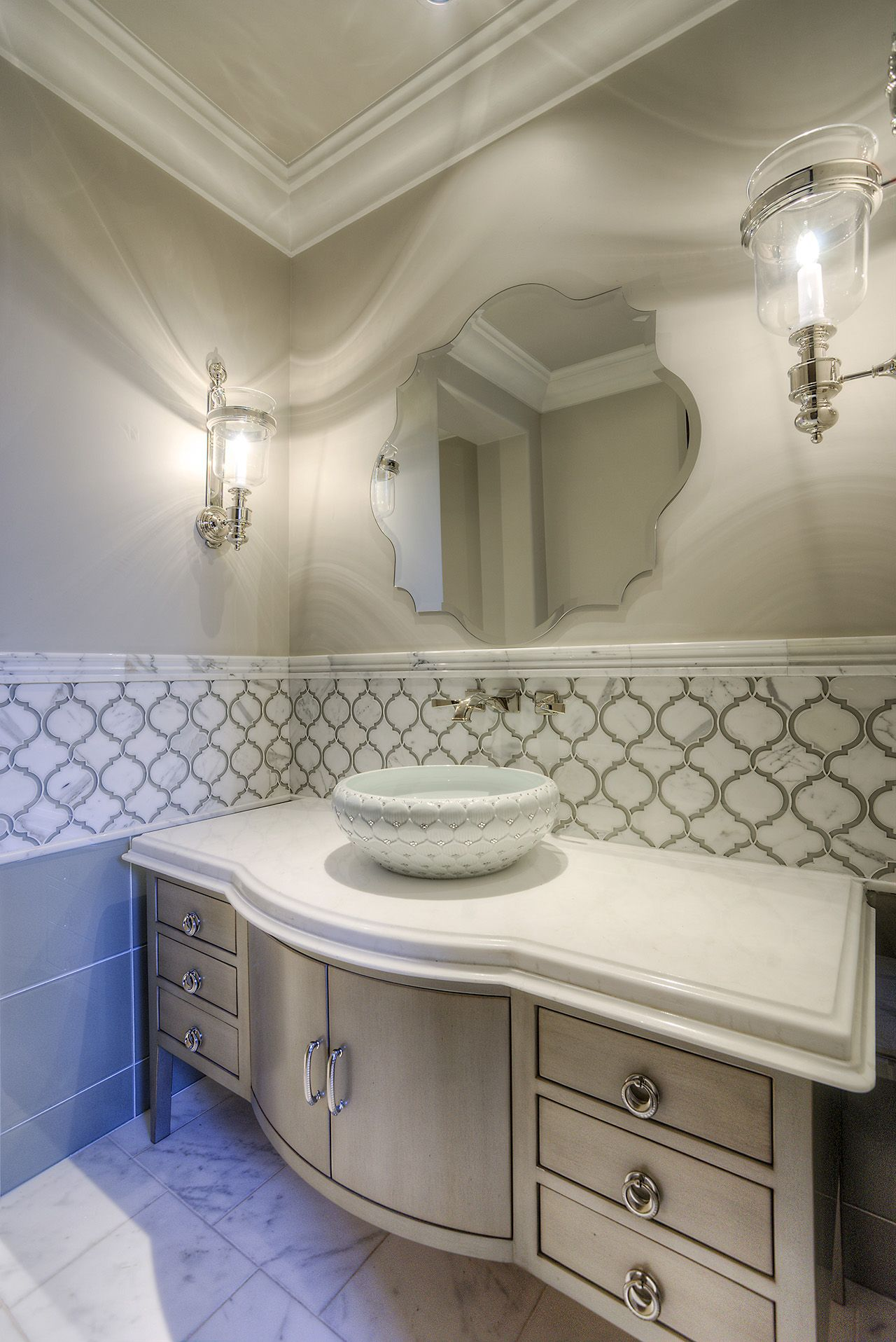 11 Formal Mediterranean Luxury Home guest bathroom ...