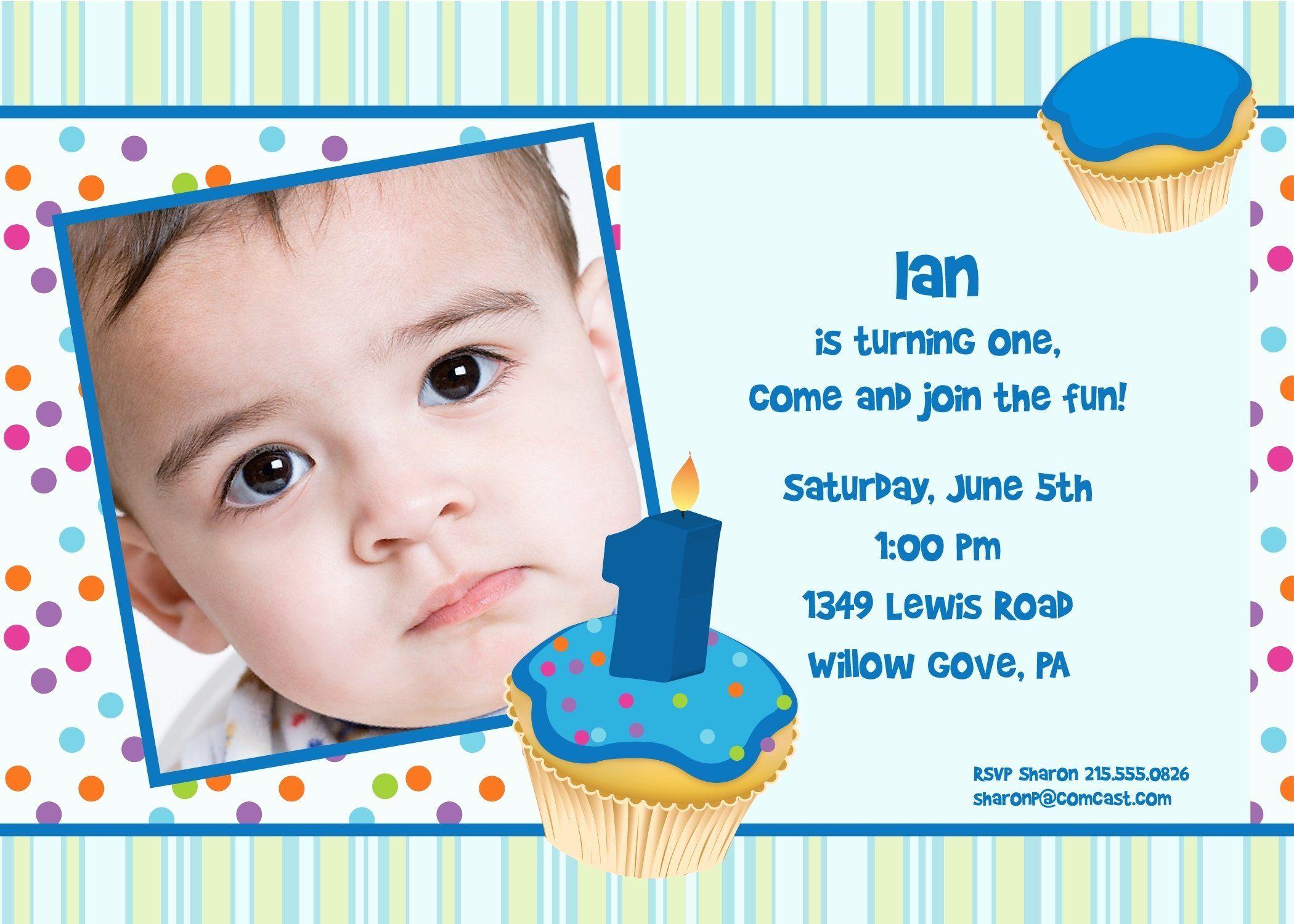 1st birthday invitation wording samples