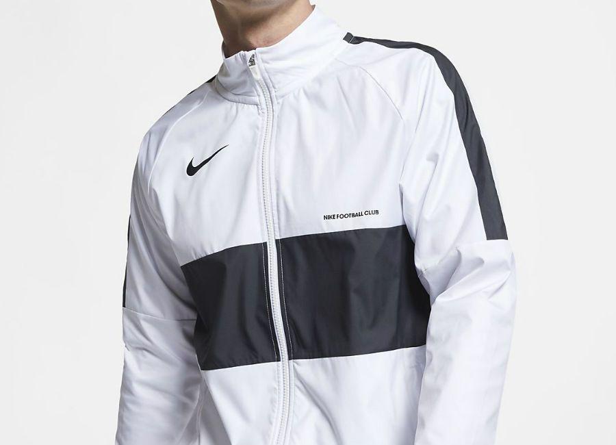 Nike F.C. Football Jacket White White Black Black