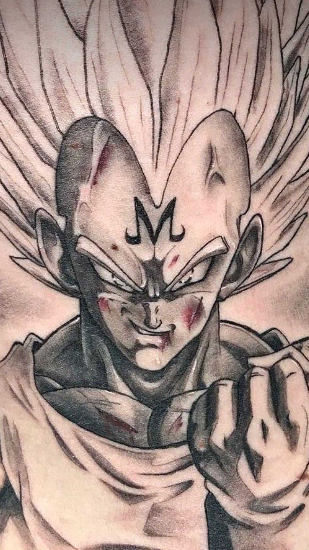 Majin Vegeta Tattoo Dragonball Vegeta Art Dragon Ball Z