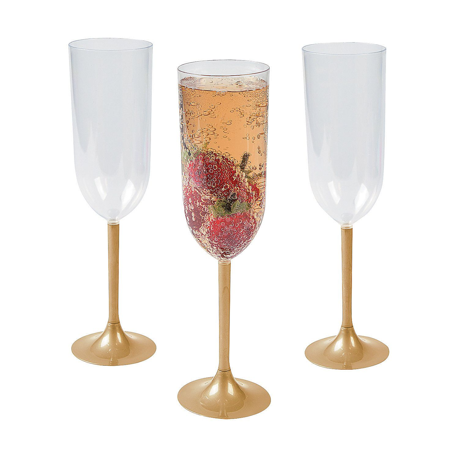 Gold Stem Champagne Glasses just in case the mason jar