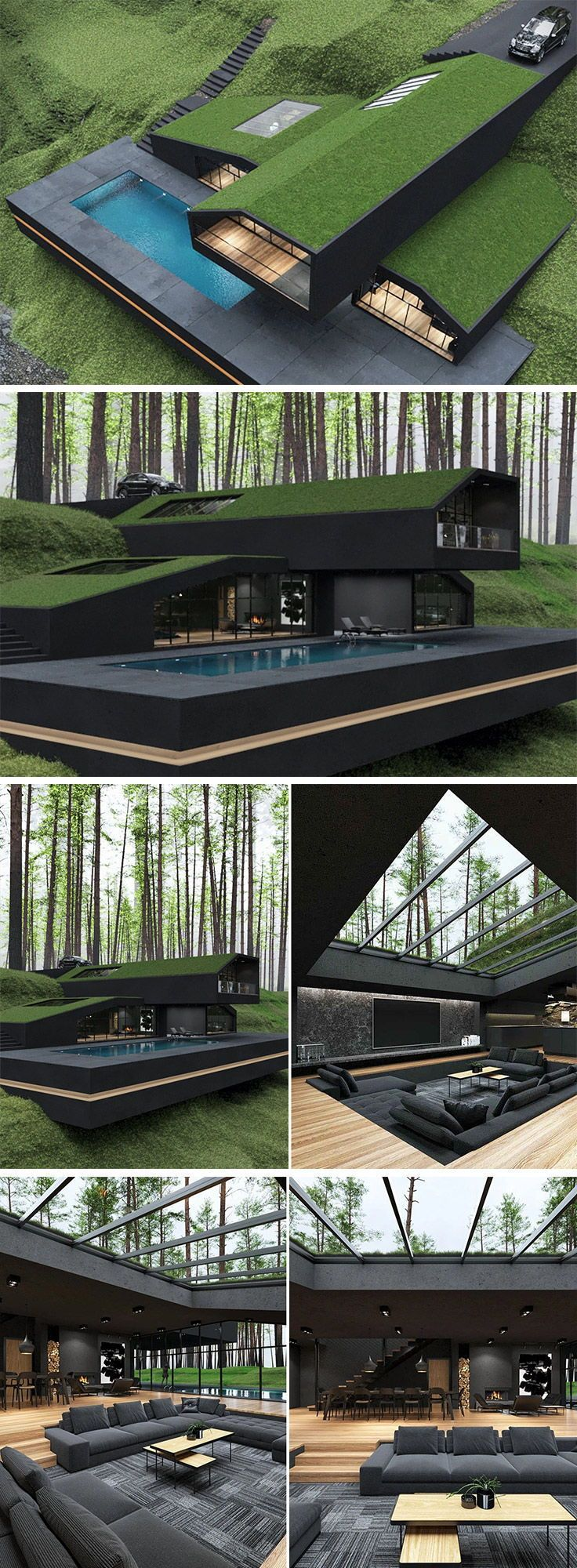 This grass roof villa could start a new trend in modern architecture