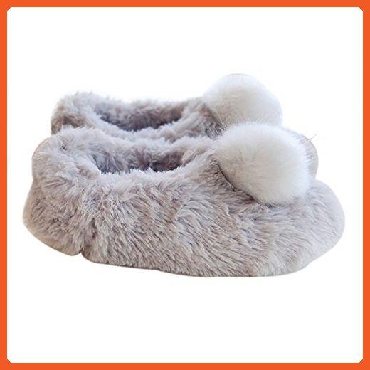 VWU Womens Girls Warm Winter Slip On Floor Shoe Fur Knit