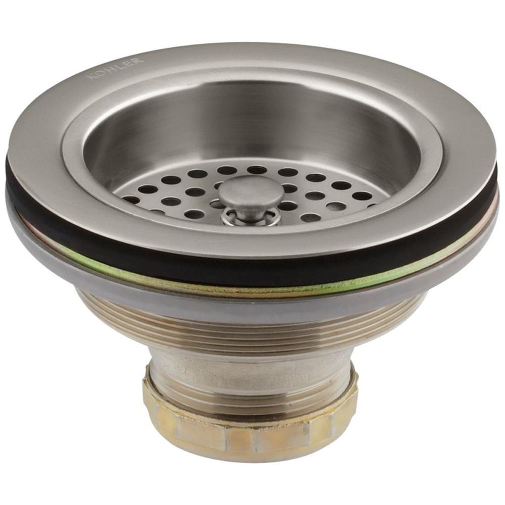 Kohler Duostrainer 4 1 2 In Sink Strainer In Vibrant Brushed