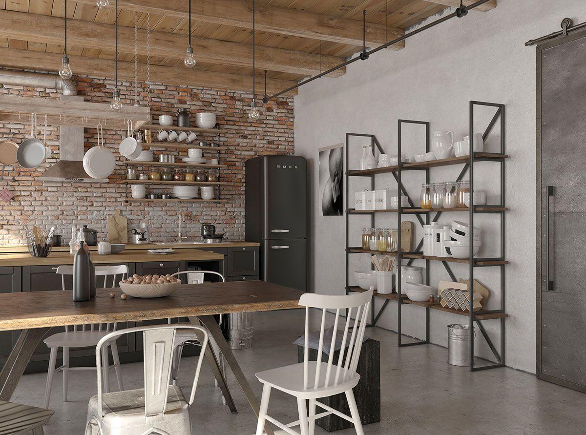 неугомонного лофт картинка на кухню популярная