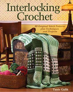 The book is Tanis Galik's Interlocking Crochet.
