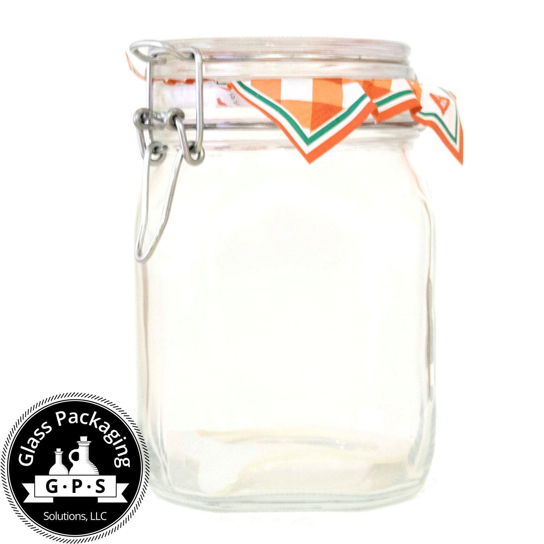 Fido 1 Liter Hermetic Jar 06 Pieces Hermetic Jars Wholesale Glass Jars Jar