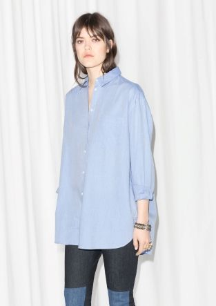 & OTHER STORIES This menswear-style viscose shirt has a classic button-down design and is tailored for an oversized fit.