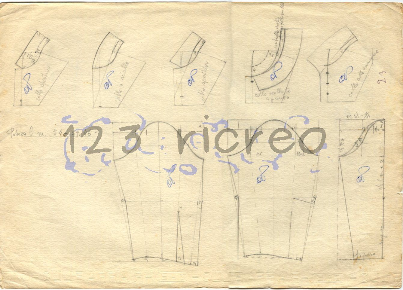Famoso Schemi #colli e #maniche - 123 ricreo | Cucito - Cartamodelli e  XH85