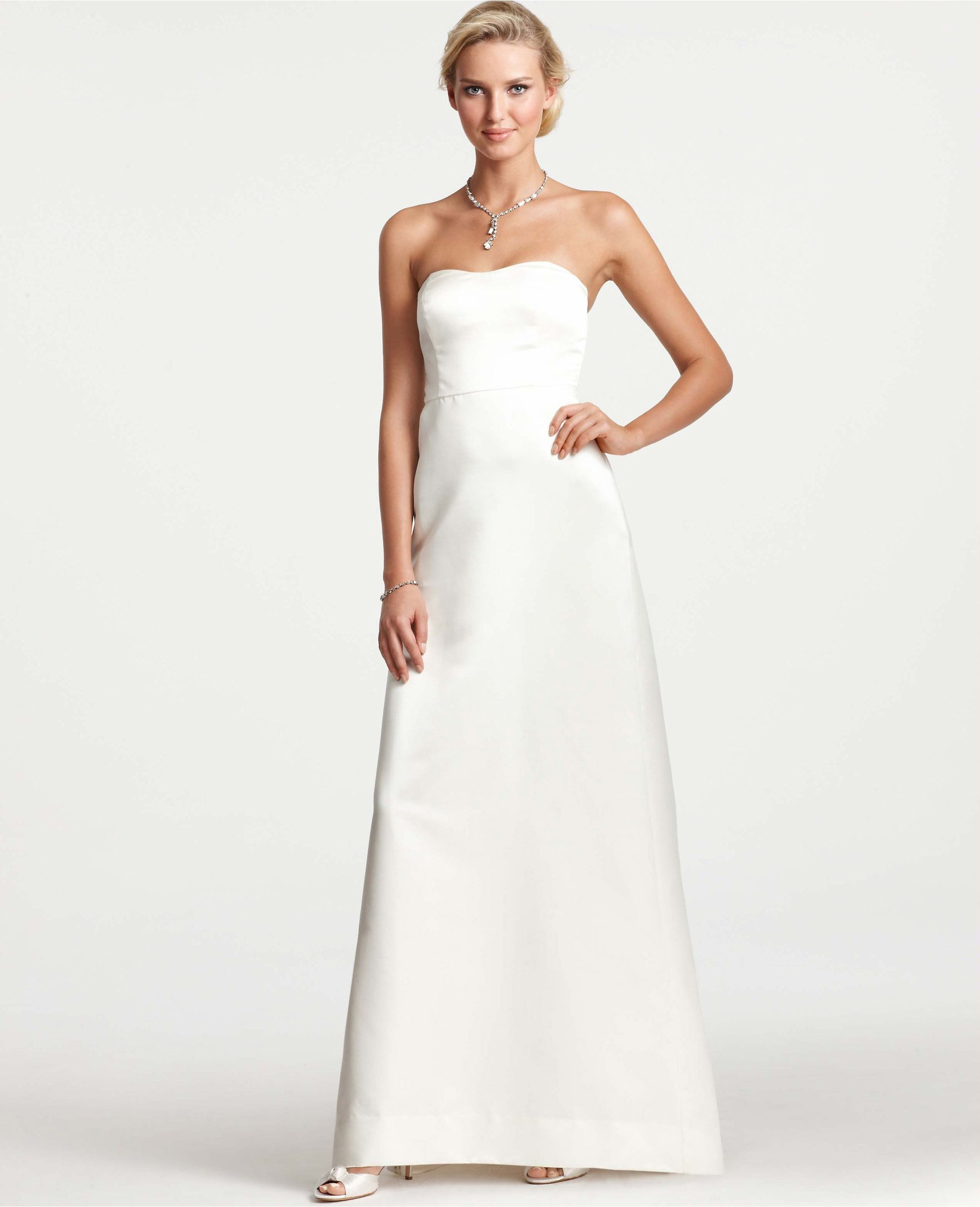Primary Image of Layla Duchess Satin Strapless Wedding Dress ...