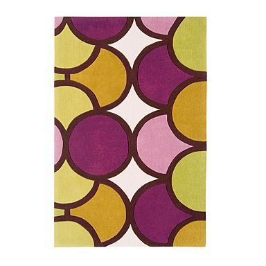 Purple And Green Harlequin Bubble Rug Rugs Cushions Throws Home Furniture
